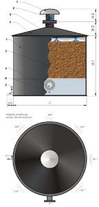 Circular Stand-Alone Biofilter - Series SRBF
