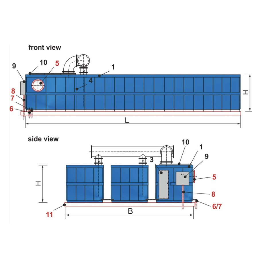 Bioteg Modular Container Biofilter with Separate Tech Container